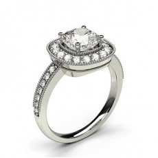 Full Bezel Setting Marquise Diamond Plain Engagement Ring