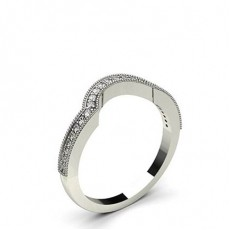 1.80mm Studded Slight Comfort Fit Diamond Shaped Band