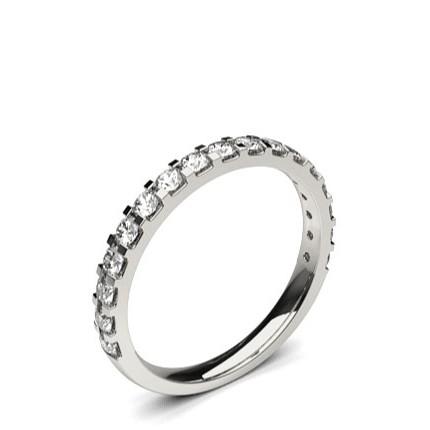 2.10mm Studded Slight Comfort Fit Diamond Wedding Band