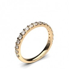 2.10mm Studded Slight Comfort Fit Diamond Wedding Band