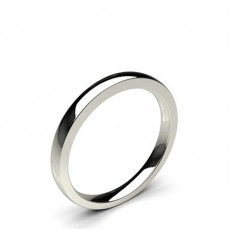 2.10mm Comfort Fit Plain Wedding Band