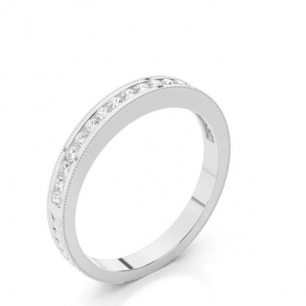 2.50mm Studded Slight Comfort Fit Diamond Wedding Band
