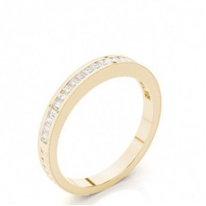 Baguette Yellow Gold Wedding Bands