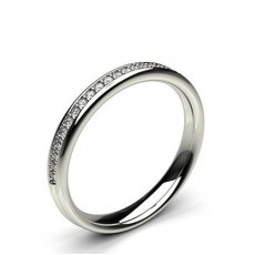 3.10mm Studded Standard Fit Diamond Wedding Band