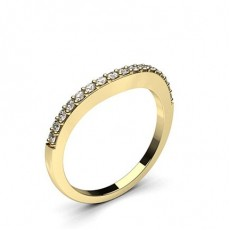 Round Yellow Gold Shaped Women's Wedding Bands