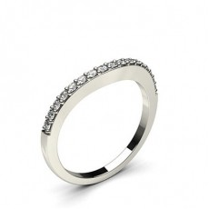 1.80mm Pave Setting Studded Diamond Shaped Band