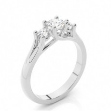 Round Trilogy Engagement Rings