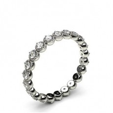 2.50mm 4 Prong Setting Full Eternity Diamond Ring