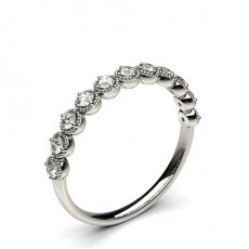 0.35ct. 4 Prong Setting Half Eternity Diamond Ring