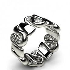 Semi Bezel Setting Diamond Rings