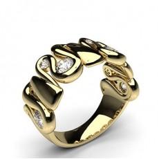 0.75ct. Half Bezel Setting Half Eternity Diamond Ring