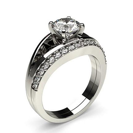 bague diamant serti rail
