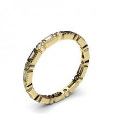 Round Yellow Gold Anniversary Diamond Rings