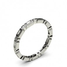 2.10mm Full Bezel Setting Full Eternity Diamond Ring