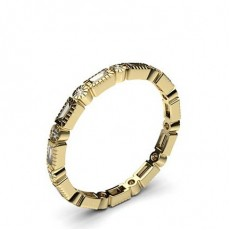 Yellow Gold Full Eternity Diamond Rings