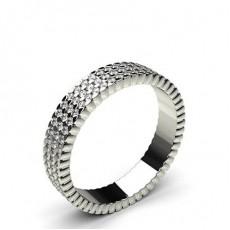 Round White Gold  Full Eternity Diamond Rings