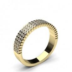 0.45ct. 4 Prong Setting Half Eternity Diamond Ring