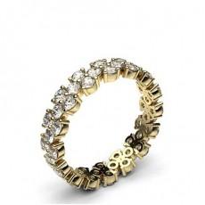 Round Yellow Gold Full Diamond Eternity Rings