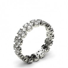 1.40ct. 4 Prong Setting Half Eternity Diamond Ring