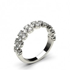 1.10ct. 4 Prong Setting Half Eternity Diamond Ring