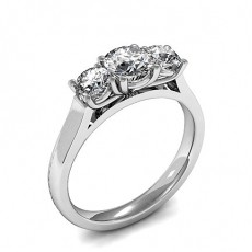 3 Stone Diamond Rings