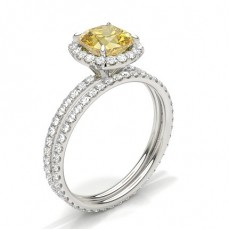 White Gold Yellow Diamond Engagement Diamond Engagement Rings