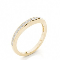 Round Yellow Gold Wedding Bands