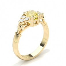 Or Jaune Contemporaines Bague de fiançailles