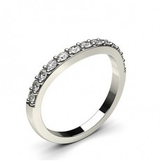Round White Gold Shaped Women's Wedding Bands