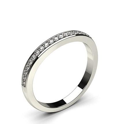 2.20mm Studded Slight Comfort Fit Diamond Shaped Band