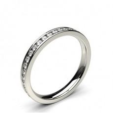 Round Platinum Diamond Half Eternity Rings