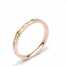 Rose Gold Yellow Diamond Rings