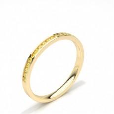 Round Yellow Gold Yellow Diamond Rings