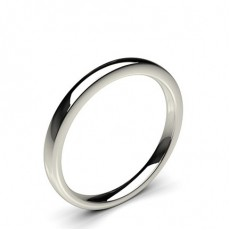 2.00mm Slight Comfort Fit Classic Plain Wedding Band