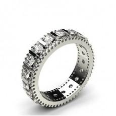 Round White Gold Anniversary Diamond Rings