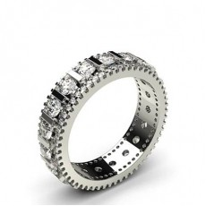 4 Prong & Bar Setting Full Eternity Diamond Ring
