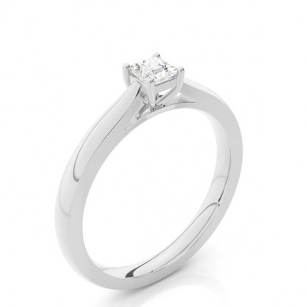 Buy 4 Prong Setting Princess Diamond Plain Engagement Ring