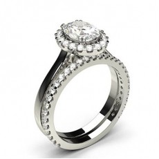 Oval Bridal Set Diamond Engagement Ring