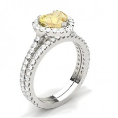 3 Prong Yellow Diamond Bridal Set