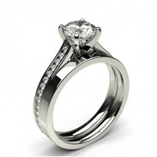Round   Bridal Set Diamond Engagement Rings