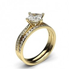 Yellow Gold Bridal Set Diamond Engagement Rings