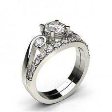 Platin Schulter Diamanten mit passendem Verlobungsringe