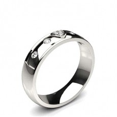 2.50mm Slight Comfort Fit Diamond Wedding Band