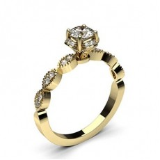 Yellow Gold Contemporary Diamond Engagement Rings