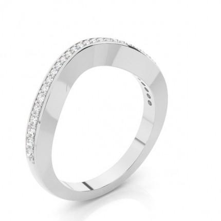 2.30mm Studded Slight Comfort Fit Diamond Shaped Band