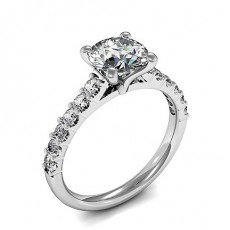 4 Prong Setting Side Stone Engagement Ring