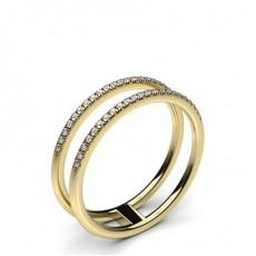 Round Yellow Gold Promise Diamond Rings