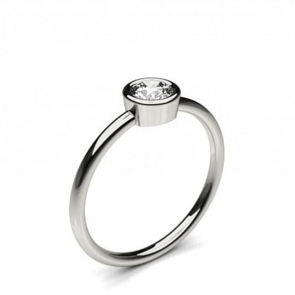 Pave Setting Round Diamond Promise Ring