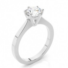 4 Prong Setting Side Stone Halo Engagement Ring