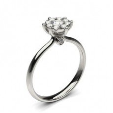 Silver Solitaire Diamond Rings